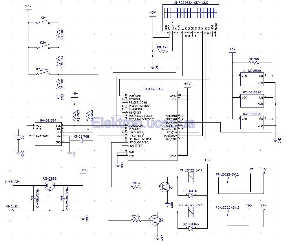 Схема терморегулятора для теплого пола своими руками схема фото 192